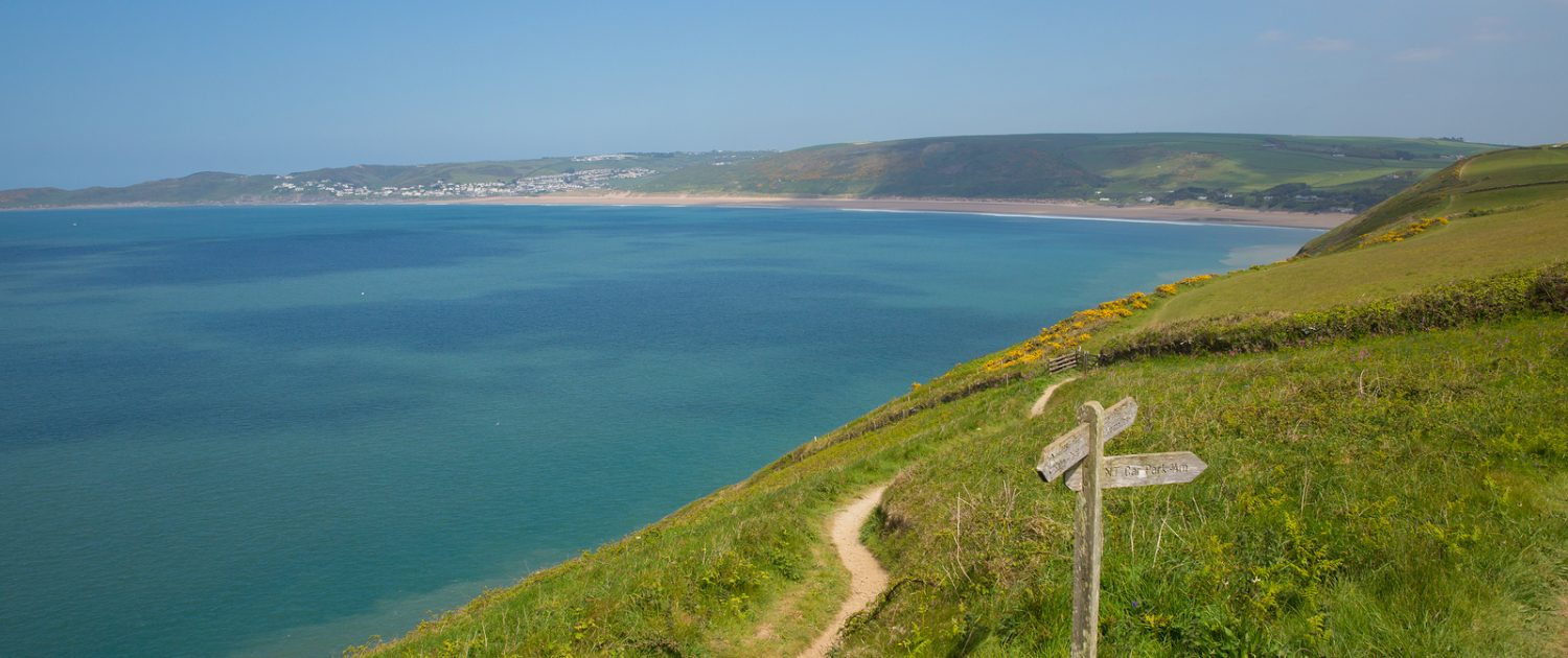 SW Coast path to Woolacome Devon England UK